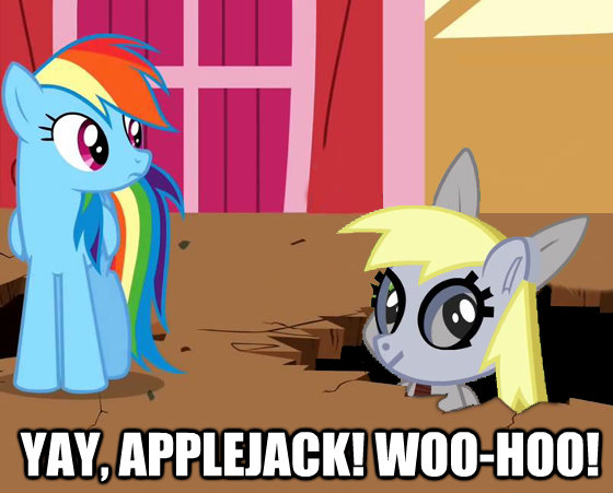 Yay, Applejack! Woo-hoo!