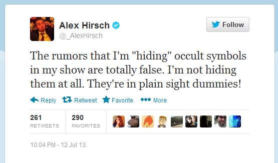 Alex Hirsch Addresses Occult Rumors
