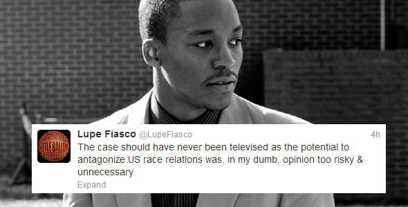 Rapper Lupe Fiasco's response to the Zimmerman trial