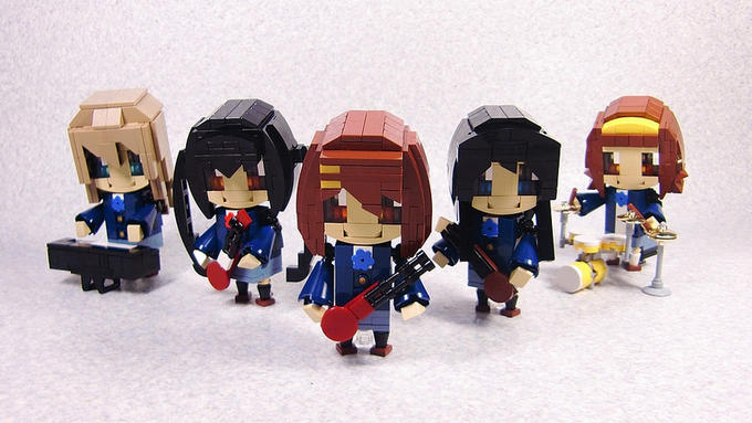 K-On! Cast in LEGO