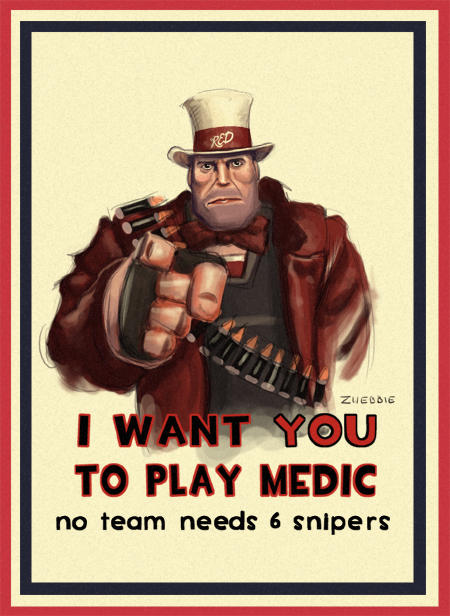 Heavy Want You to Play Medic
