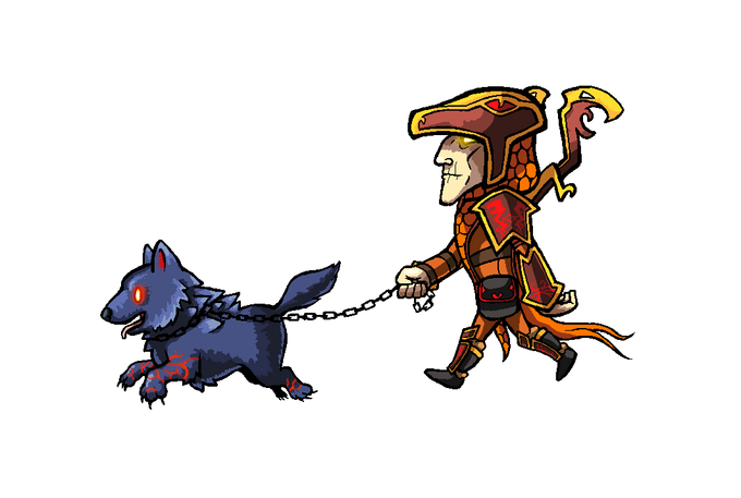 Loki and Fenrir go for a Walk