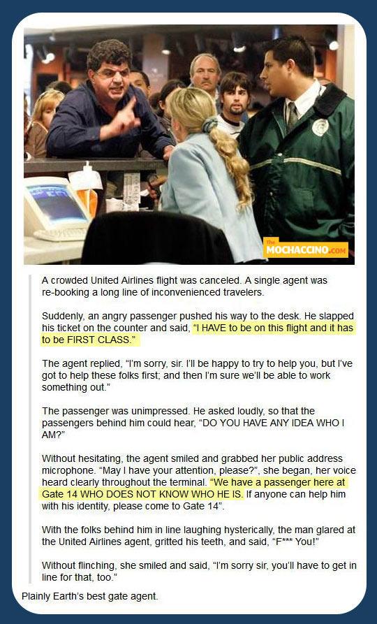World's Best Airport Gate Agent