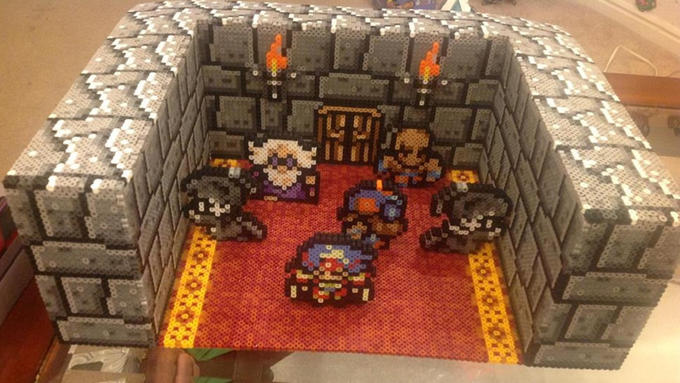 A FFIV Sad Scene Re-Created With Beads