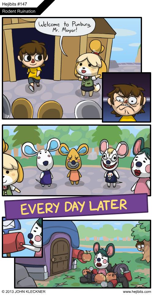 Animal Crossing Town Entry Meme