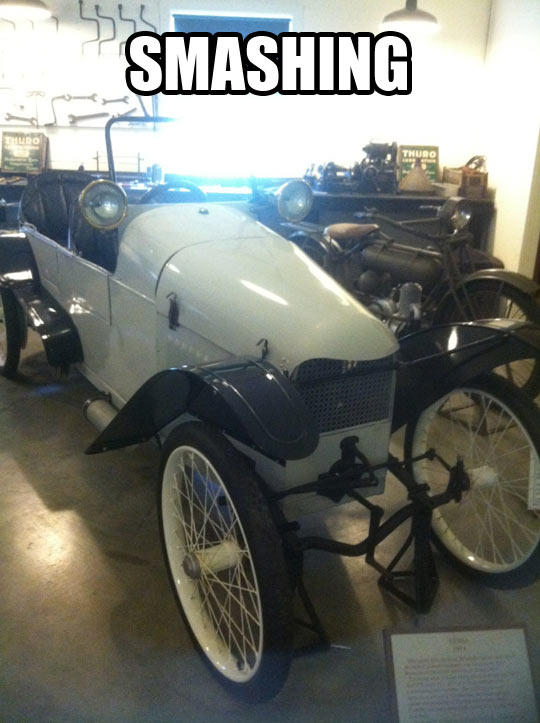 Old White Car Exposition