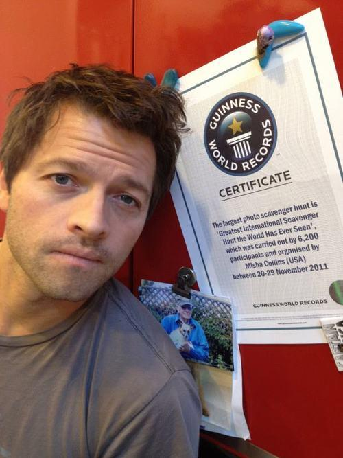 [11] That year, GISHWHES won the Guinness World Record for Largest Photo Scavenger Hunt (shown below). - 709