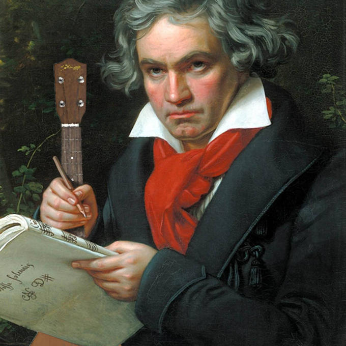 Beethoven Ukulele Photoshop