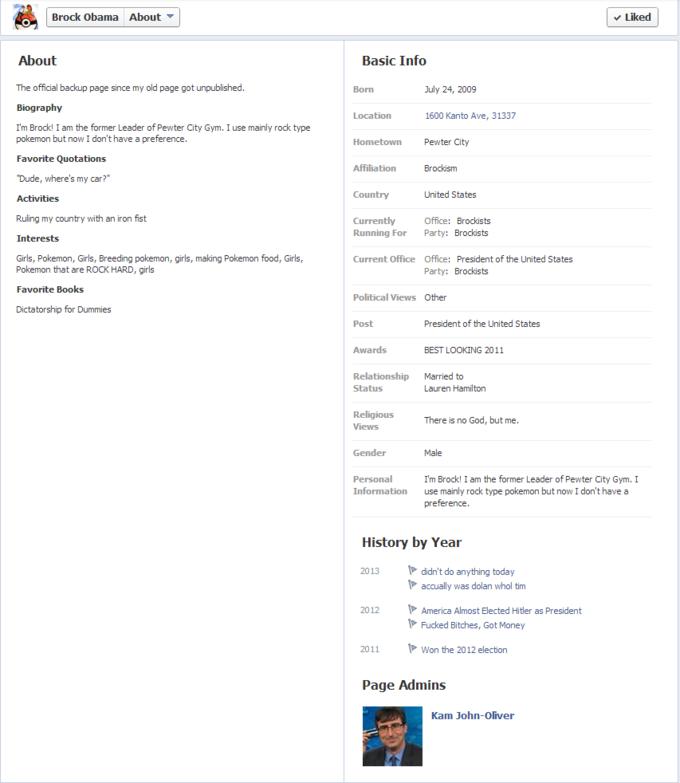 Brock Obama info page