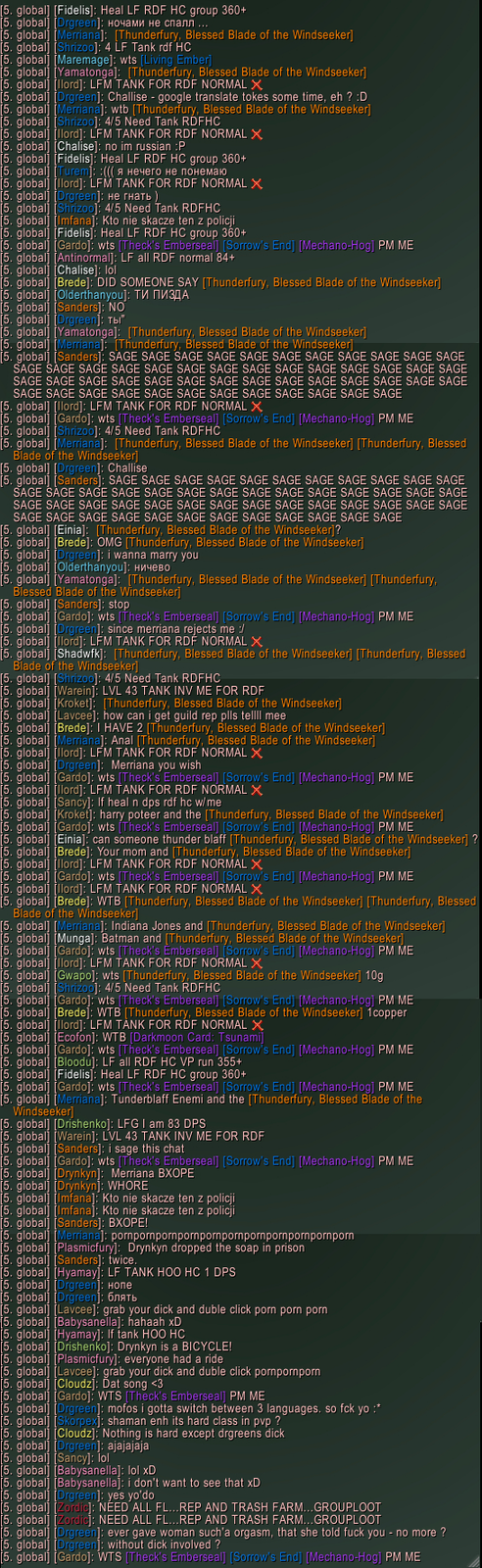 World of Warcraft chat at its best
