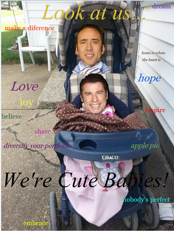 travolta and cage babies