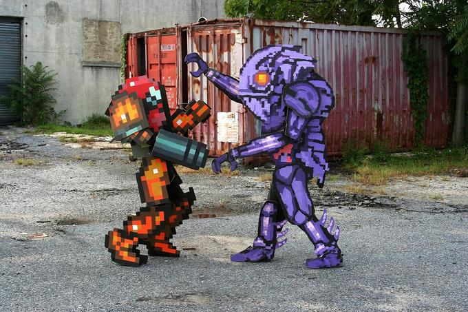 Pixel Cosplay Samus and Chozo