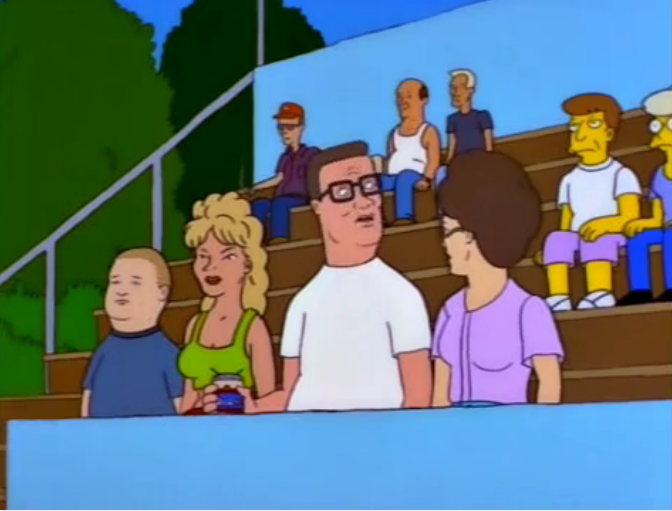 King of the Hill on the Simpsons