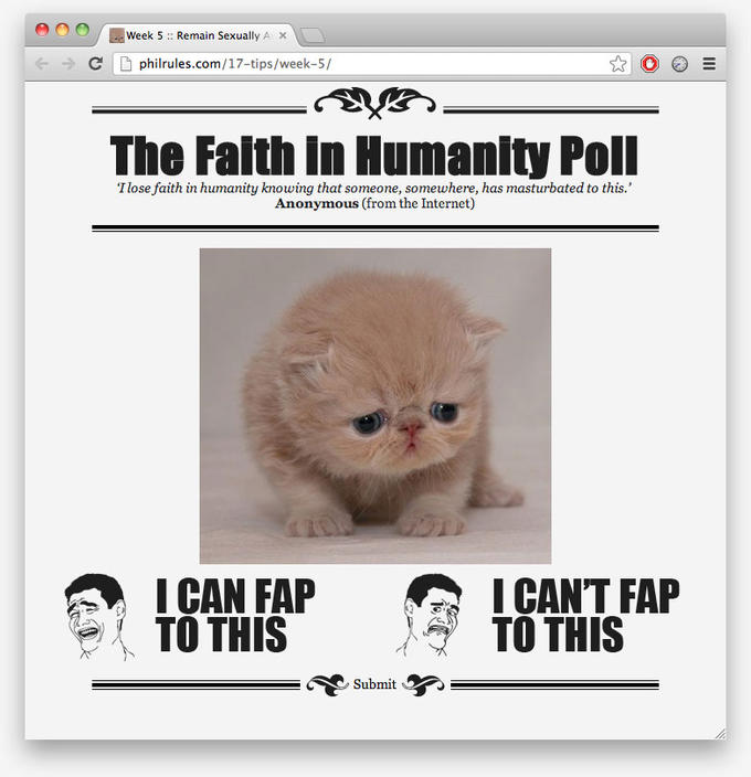 The Faith in Humanity Poll
