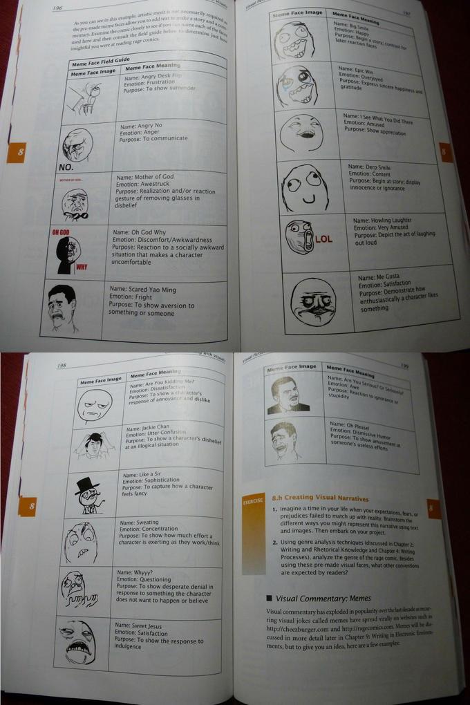 """""""Meme Face Field Guide"""""""