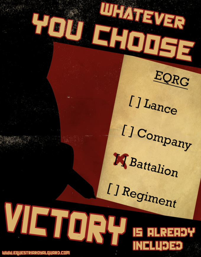 EQRG Propaganda #1 Choose by ~WhatTheScoots