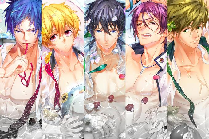 Boys in bathtub by ろらん