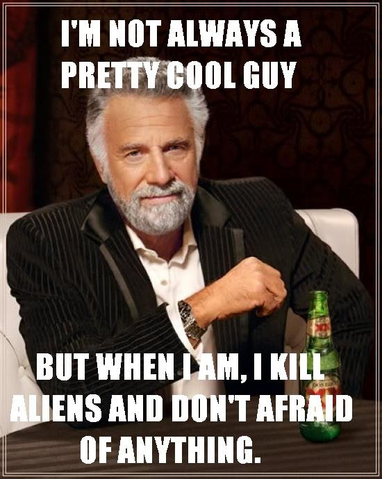 Most Interesting Man in the World meets Pretty cool guy