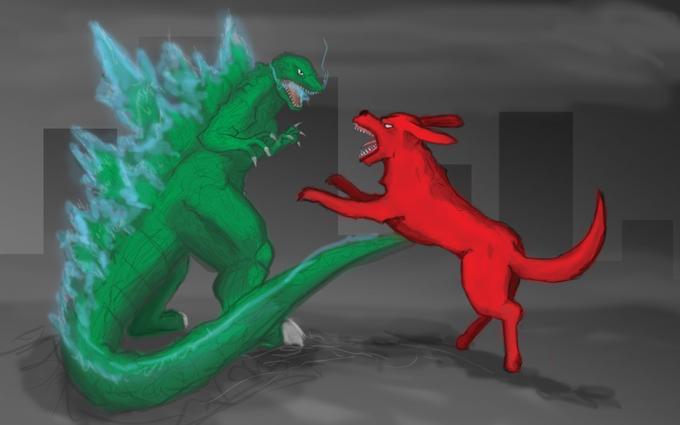 Godzilla vs Clifford