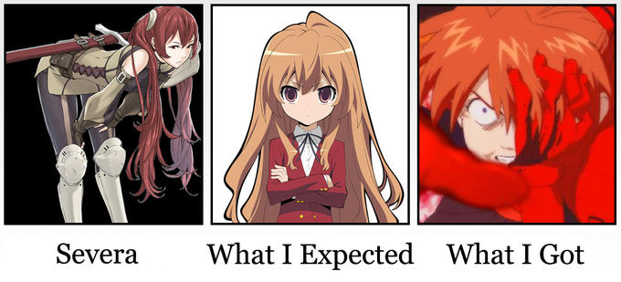 What people expected and what they got in Severa.