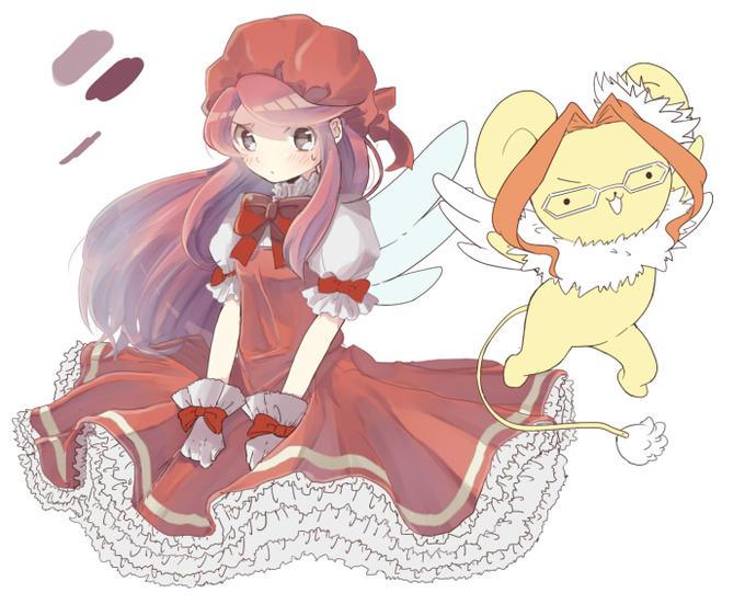 Card Captor Airi Ban and Hanakero Sakura and Kero(Cardcaptor Sakura) + Airi Ban and Hanako Kujou (Devil Survivor 2)