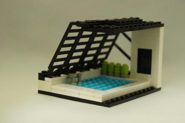 「あのプール」を、レゴブロックで作ってみました