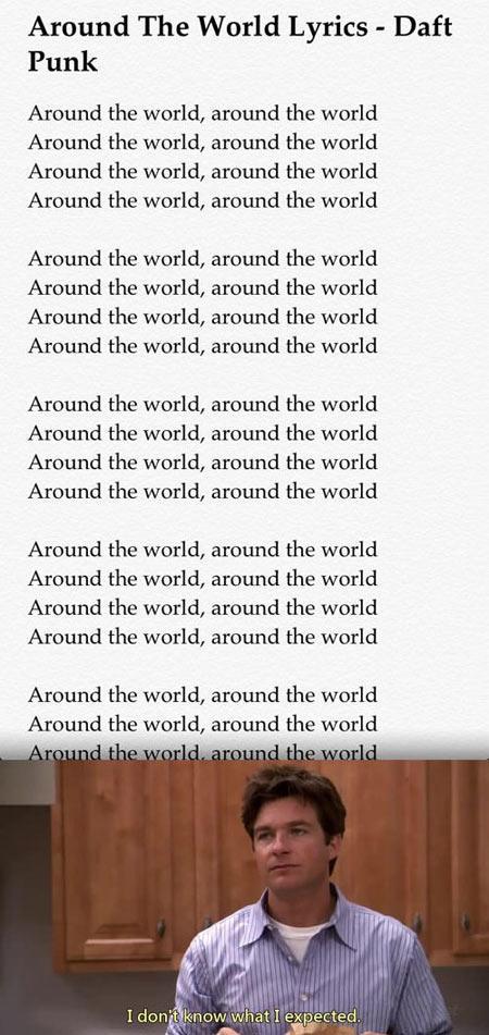 Around The World Lyrics