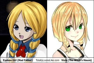 Eyeless Girl (Mad Father) Totally Looks Like Viola (The Witch's House)