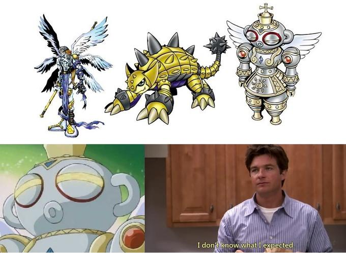 Angemon + Ankylomon = Armored Angel