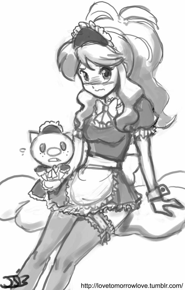 White is a maid now