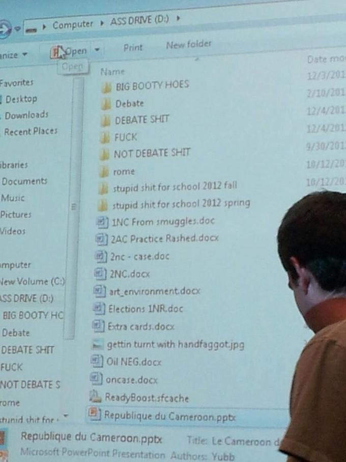 Them Folder names... Dat Hard drive name