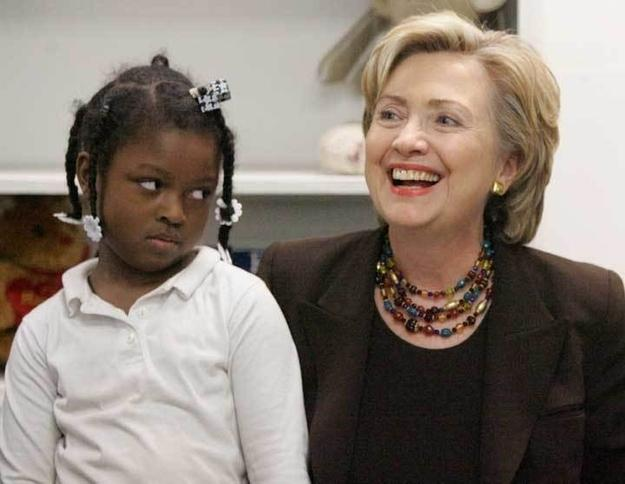 Black Girl Not Amused By Hillary Clinton