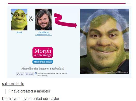 Shrek + Jack Black = ???