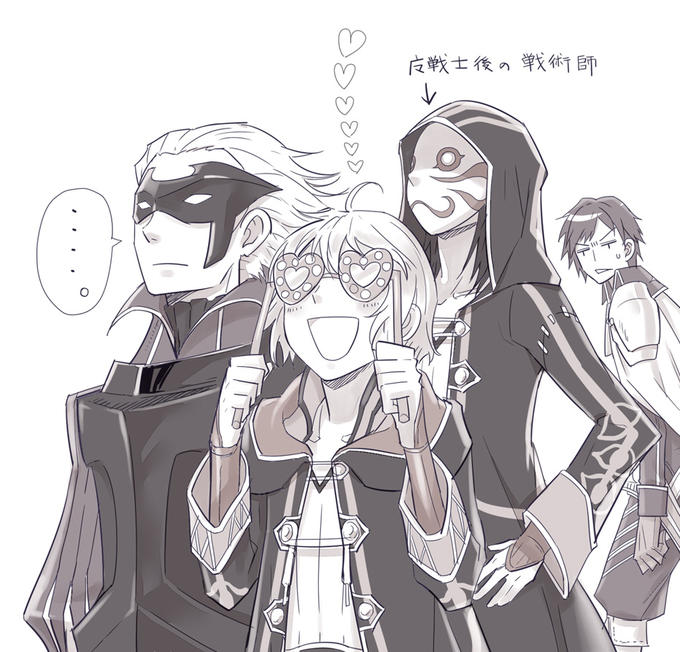Morgan, Gerome, and Robin in Mask with Chrom