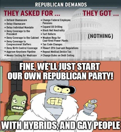 Moderates will politely take over the party again...