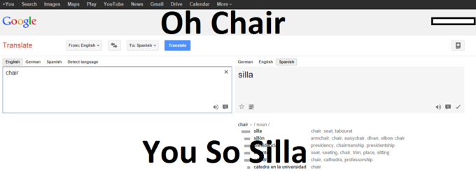 Oh Chair; You So Silla