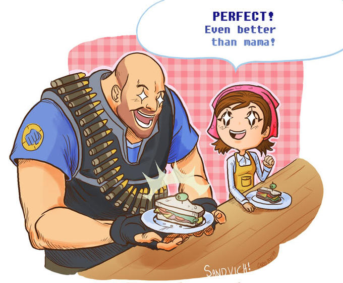 Heavy learns how to make sandwiches