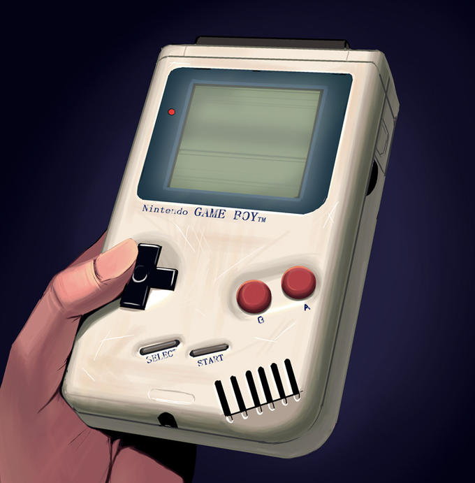 """Goodbye Bricked Game Boy """"I am sorry... I can... no longer function... ...Thank you for playing with me for... so... long..."""""""