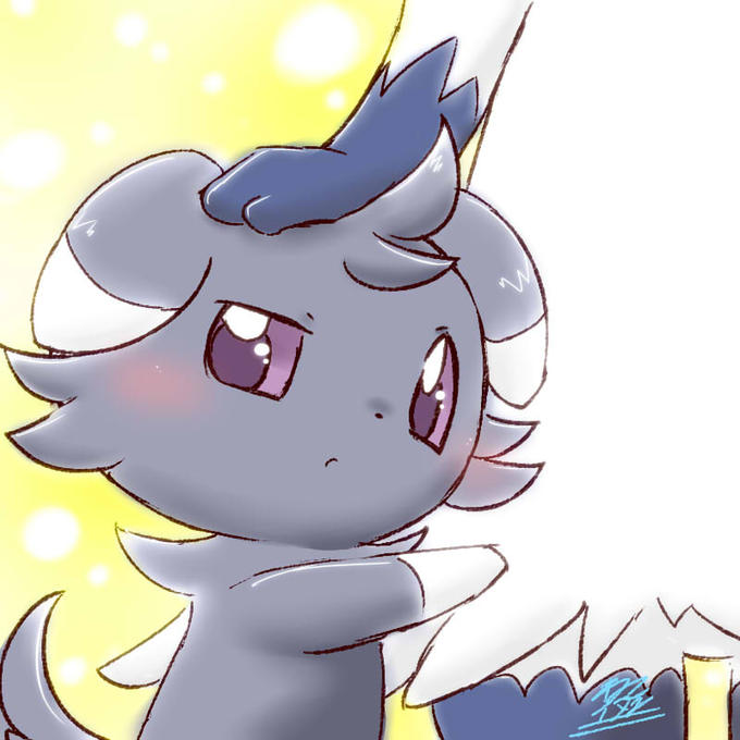 Meowstick Protecting Espurr Pokemon