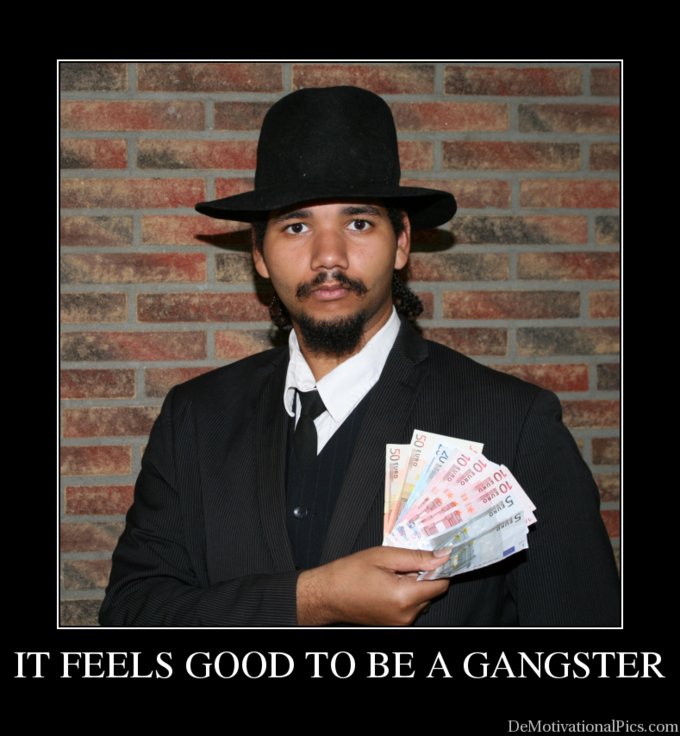 Fedora Loser thinking he's a Gangster