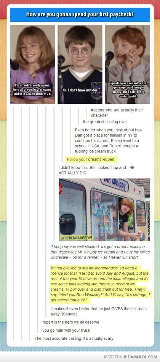 Ronald Weasly's Magical Fucking Ice Cream Truck