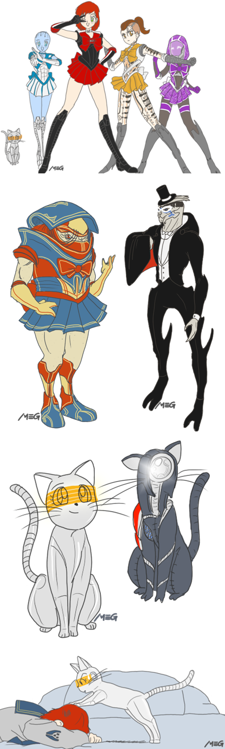 Sailor Moon X Mass Effect(!?!)