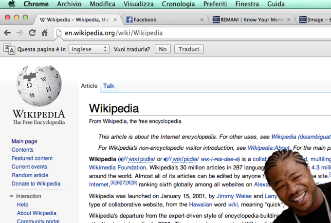 Yo dawg I heard you like Wikipedia