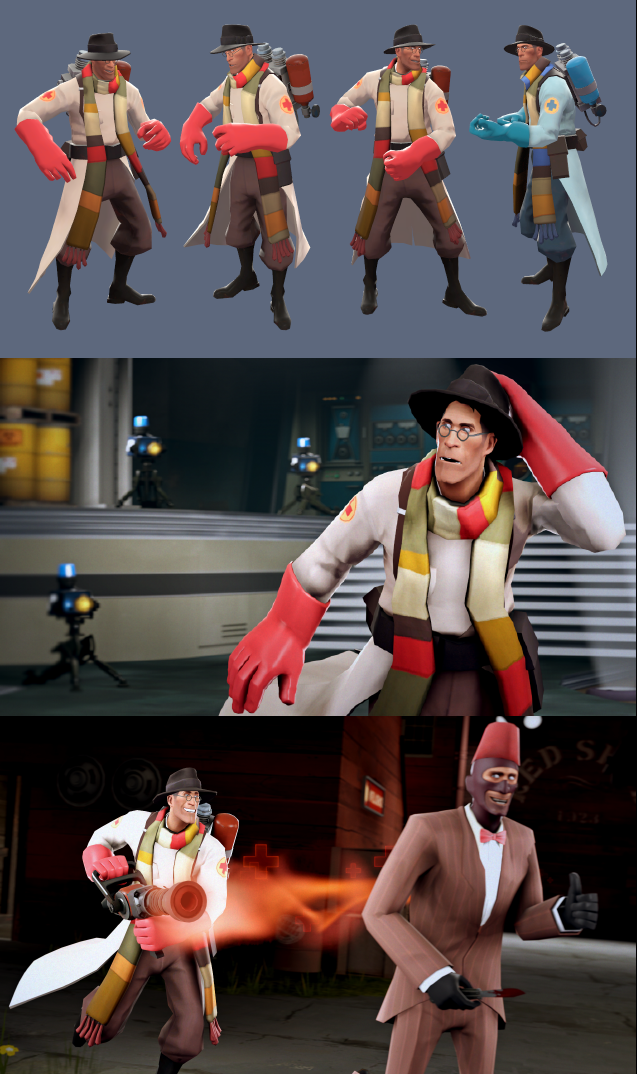 Team Fortress 2's Medic as the Fourth Doctor