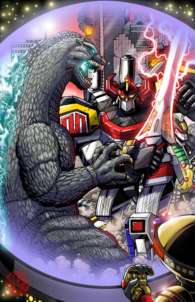 Godzilla Versus the Power Rangers