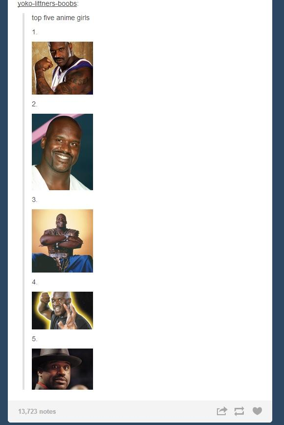What is it with Tumblr & Shaq?