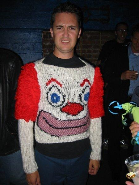 Wil Wheaton's infamous clown sweater