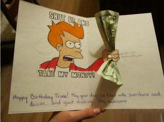 Futurama Birthday Card
