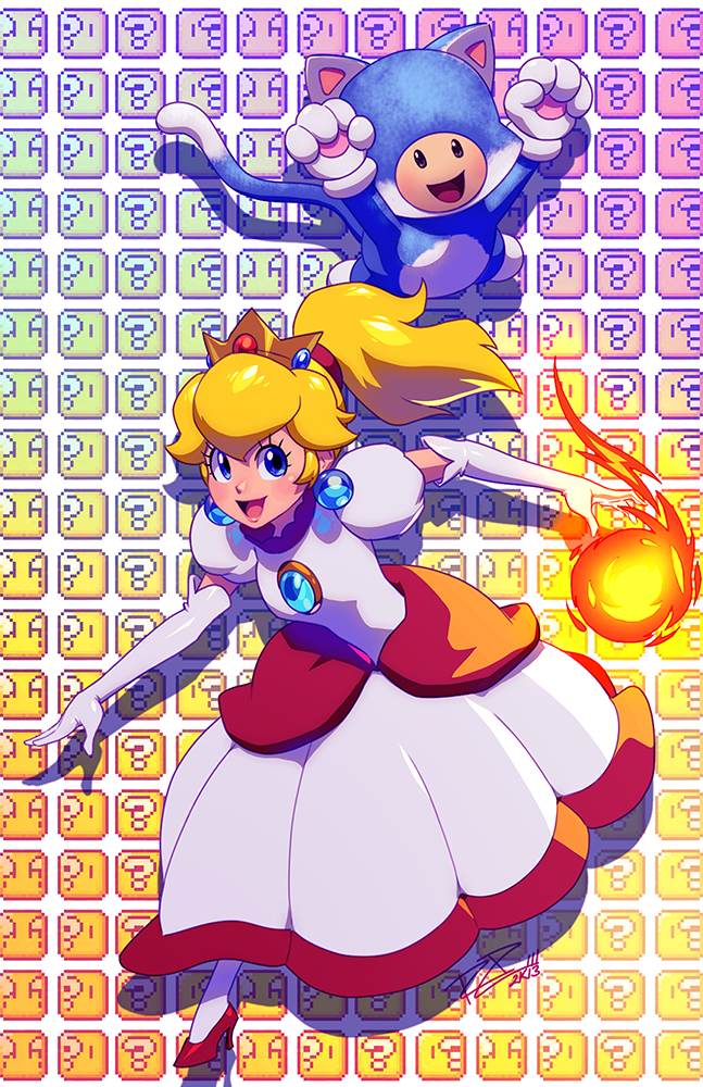 Can I just say that I think Peach's flame dress is fucking beautiful