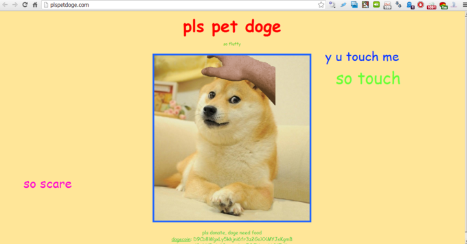pls pet doge